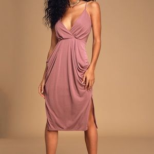 NWT Lulu's Easy to Love Mauve Dress with Pockets